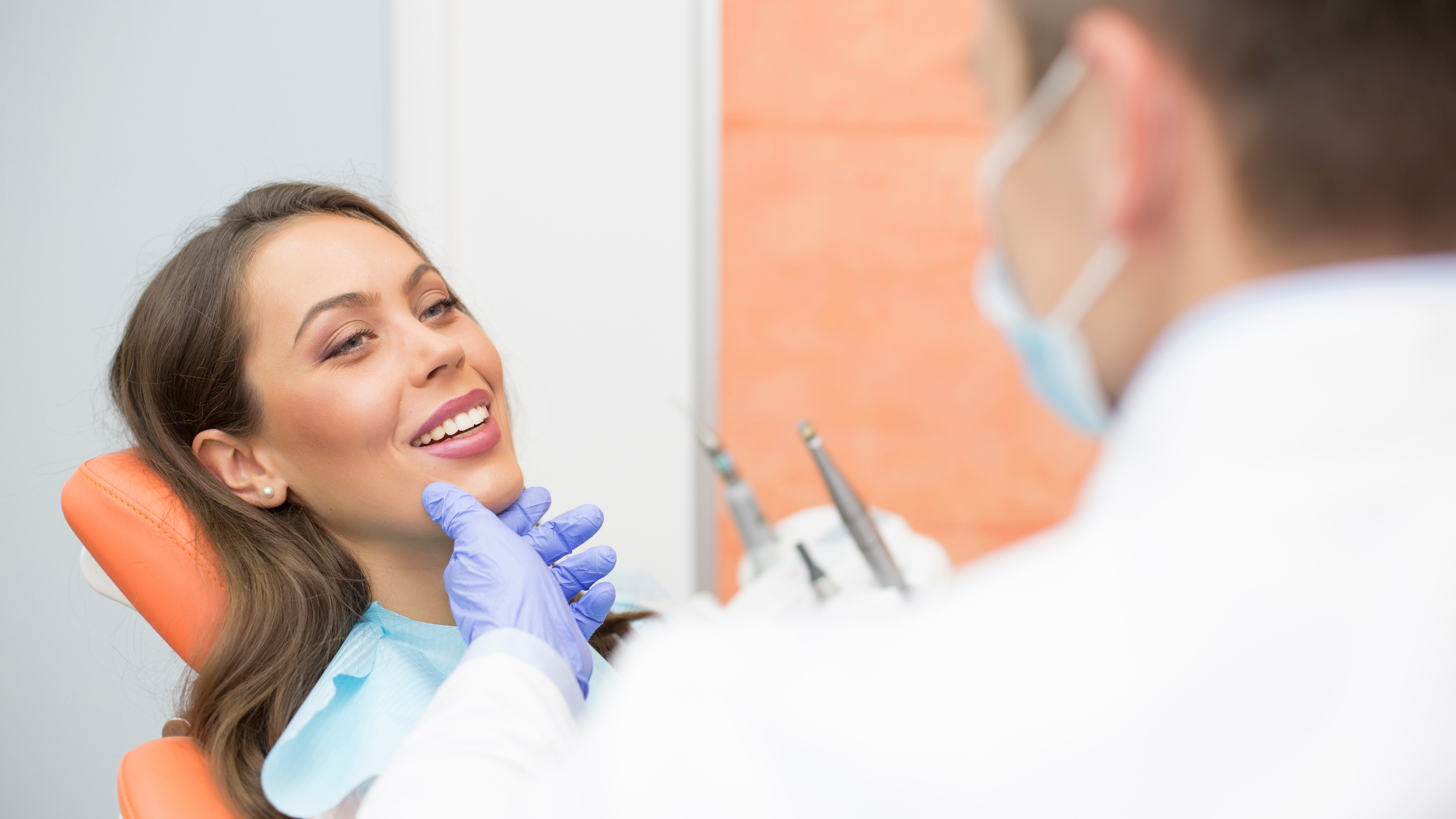 A patient is happy for getting good dental service